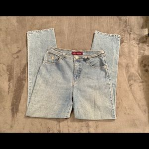 Blue Gloria Vanderbilt Straight Leg Jeans Size 10